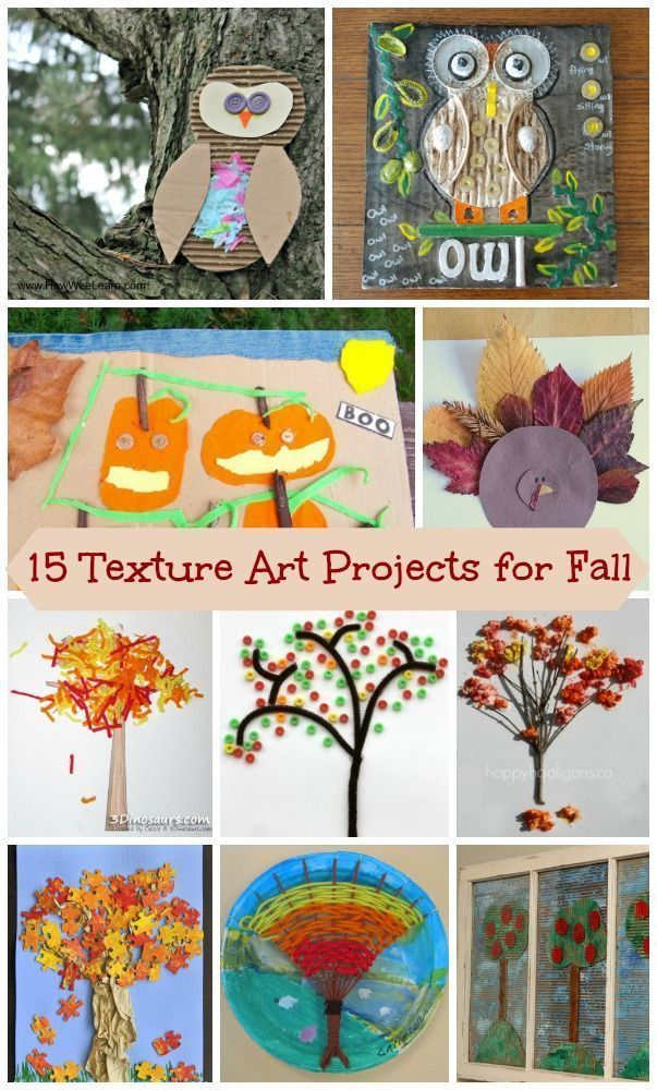Awesomely creative art projects for Fall!  Texture art with multi-media