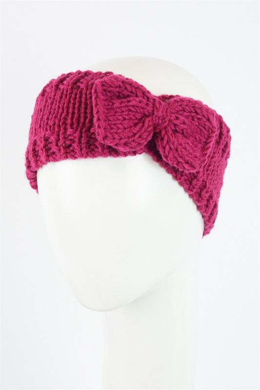 Knitted Headband With Bow Pattern : Knit Bow Headband My room Pinterest Products, Bows and Bow headbands