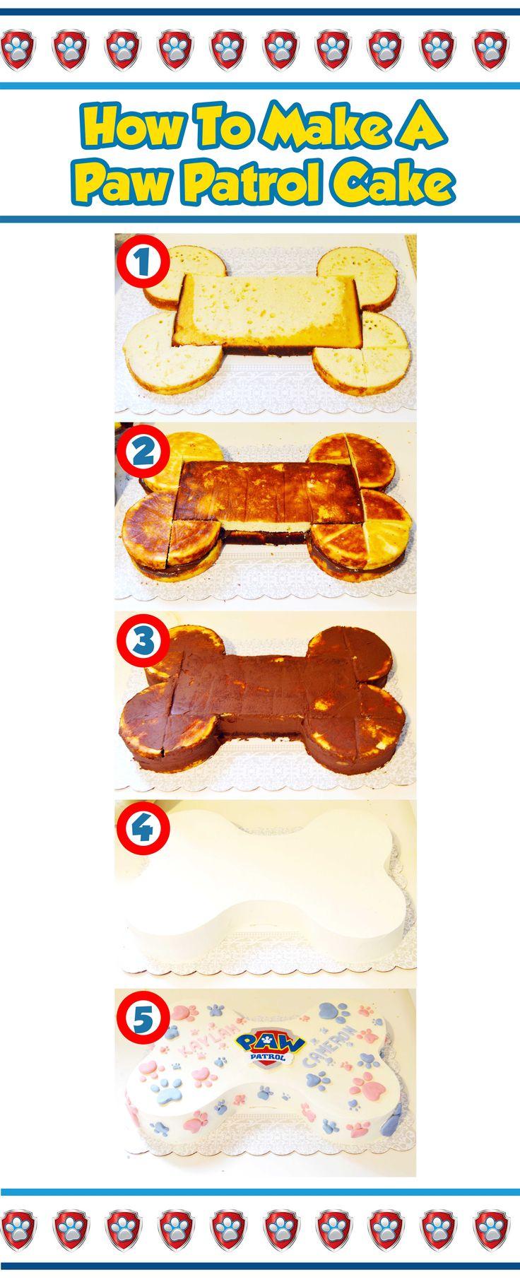 how to make a paw patrol cake