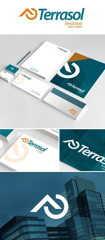 Branding e Material de expediente Terrasol Imóveis.