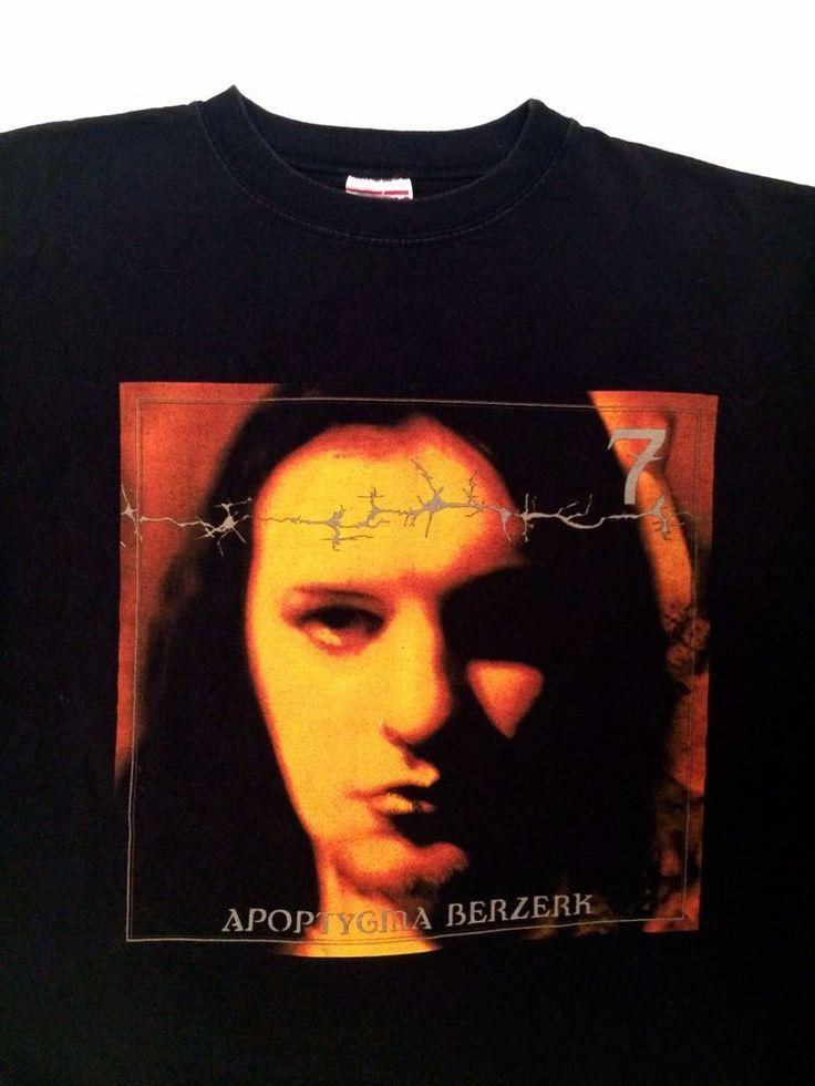 vtg 90s APOPTYGMA BEZERK 1998 Concert Tour T shirt Synthpop Rock Band tee Norway #JSRMerchandising #GraphicTee