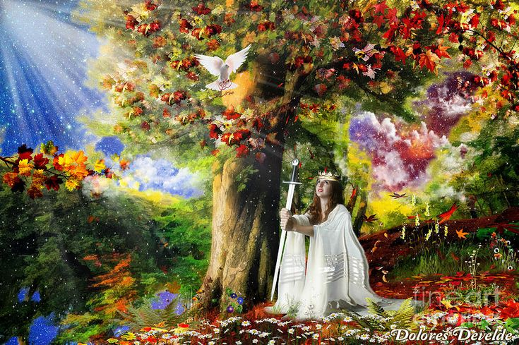 Oaks Of Righteousness Mixed Media by Dolores Develde