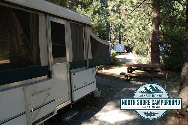 Come visit the North Shore campground and #RVPark located in #NorthernCalifornia in Plumas county in a town called Lake Almanor - just minutes away from Chester. We have a variety of #RVsites, #Cabins and #Tentsites just waiting for you. #rent this #trailer and #campsite! Go #camping and explore the great #outdoors of the #NorthState year round with our #cabinrentals. We are even #petfriendly. Visit northshorecampground.com or email info@northshorecampground to find out rental availabilities