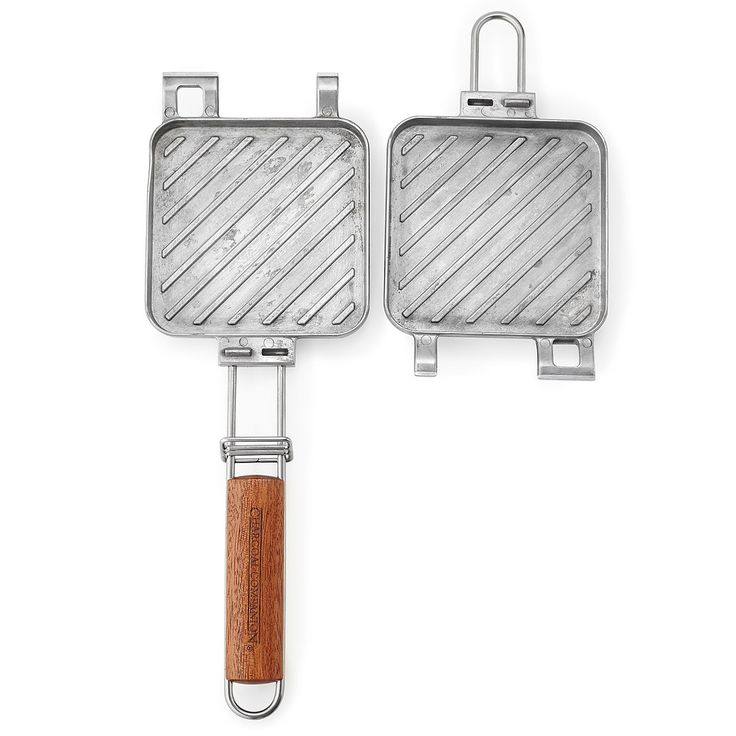 Made from cast aluminum and stainless steel, this grilled cheese press lets you make the gooey treat over the campfire.