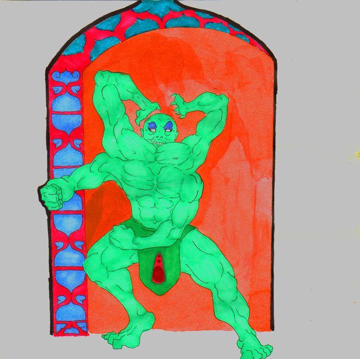Mal Genio - 2014 - JhetroMan.-  Escaniado y Editado  #dibujo #arte #psicodelia #trip #JhetroMan #psychedelic #drawing #ilustration