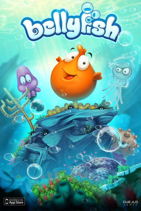 BellyFish - iphone/ipad game by Burç Pulathaneli, via Behance