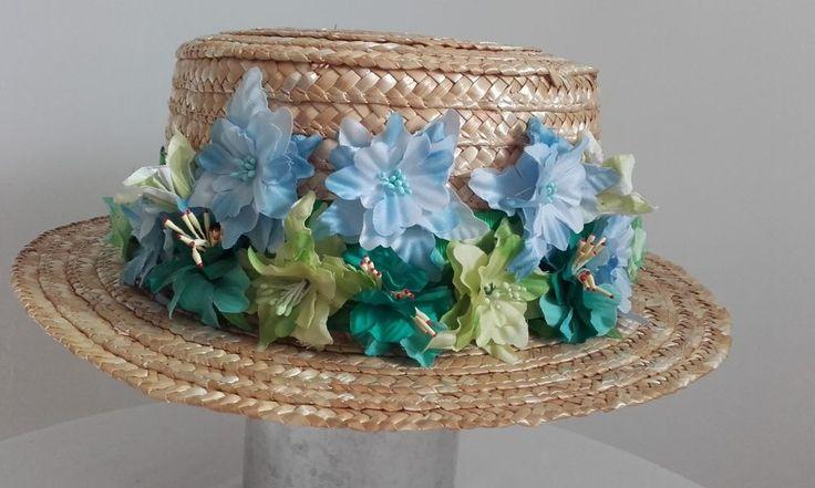 VALENTINO icon of Canotier Hat Celebrities Runway Summer Party Wedding Flowers #Handmade…