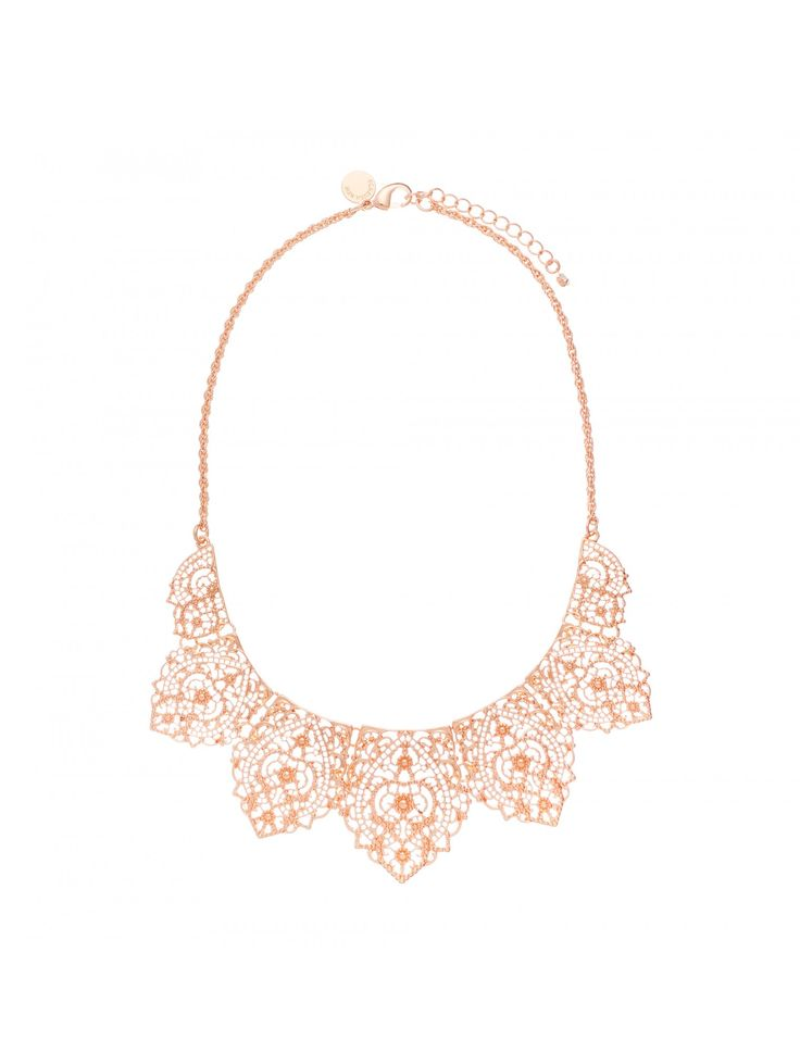 Adorn yourself with our gorgeous Angela Filigree Short Necklace, perfect to embellish any ensemble.