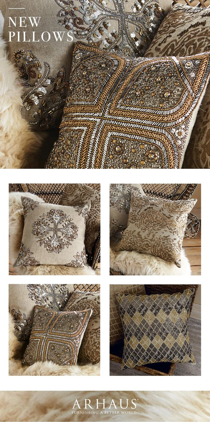 All of the glitz and glam in a few toss pillows. All new @Arhaus.