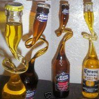 how to cut glass beer bottles