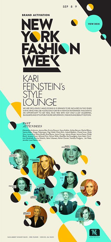 뉴욕 패션 위크 포스터.https://www.behance.net/gallery/22952677/NY-Fashion-Week