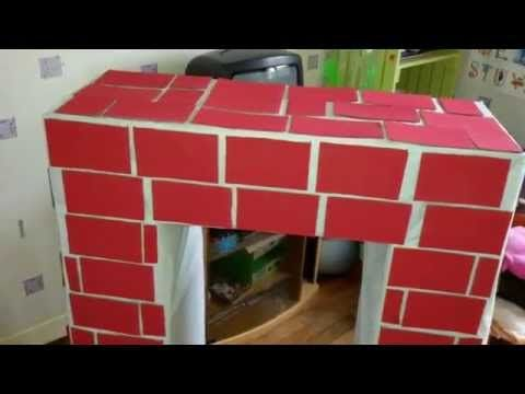 faire une fausse cheminée en carton pour Noël