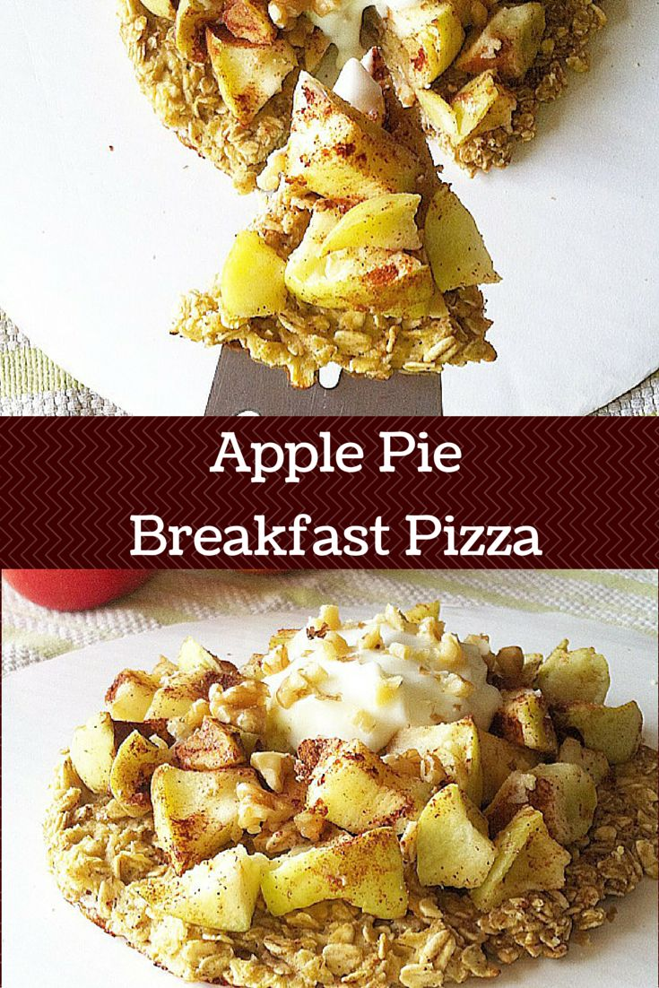 Start your morning off right with this #healthy Apple Pie Breakfast Pizza recipe! It's both #glutenfree and #vegan. It's also one of the best recipes for fall!