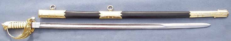 Replica of a Royal Navy Officer's Sword.  First introduced in 1827, This pattern sword is the same sword carried today by the Royal Navy, Canadian Navy, Royal Australian Navy and a whole host of other Commonwealth navies.  this sword was carried by the Navy through a whole host of conflicts to today.  As mentioned it was adopted by every other Commonwealth navy that was part of the British Empire.