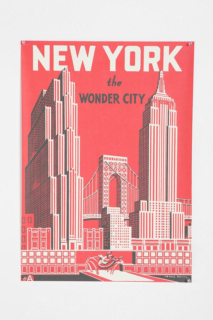 Poster design new york - Urban Outfitters The Wonder City Poster