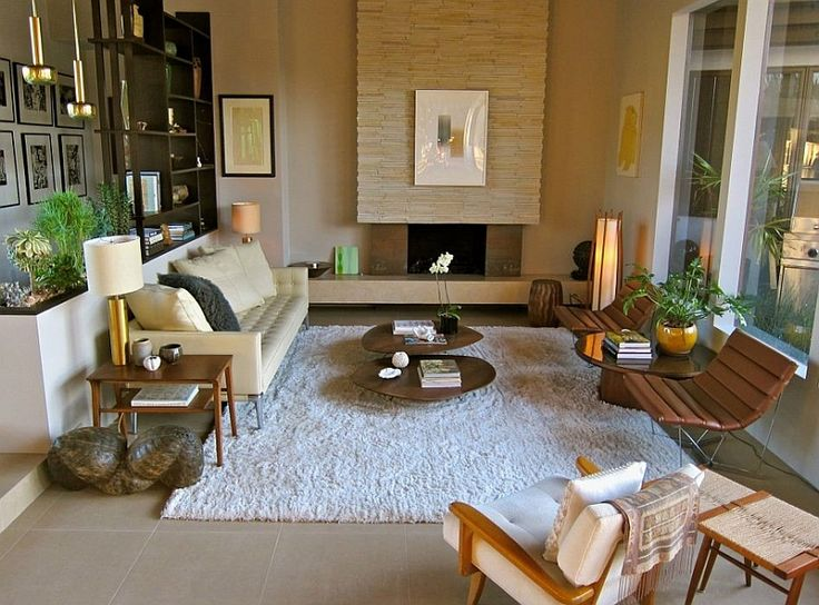 Sunken Living Rooms Step Down Conversation Pits Ideas Photos RoomModern