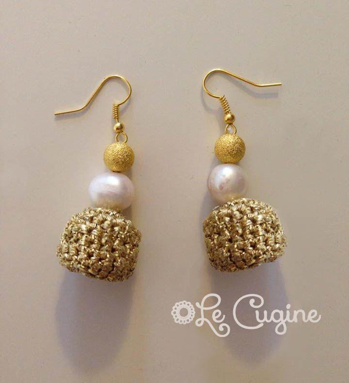 #creazioni #fattoamano #handmade #orecchini #crochet #pietre #perle