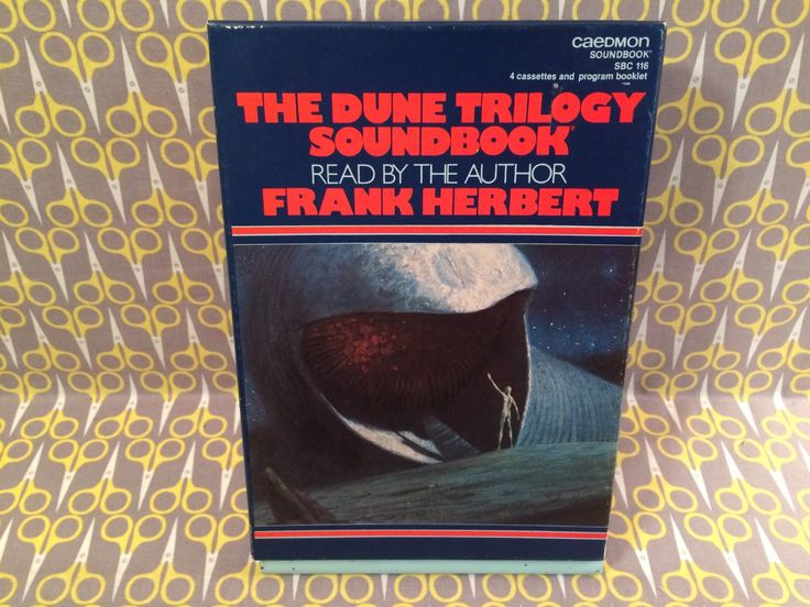 Dune Trilogy Soundbook as read by author Frank Herbert Author on Caedmon tapes Rare 4 Cassettes
