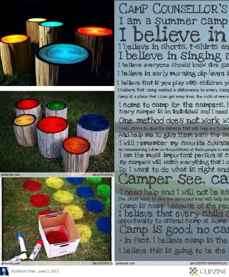 Great Summer Camp Ideas i want these glow in the dark logs for my backyard