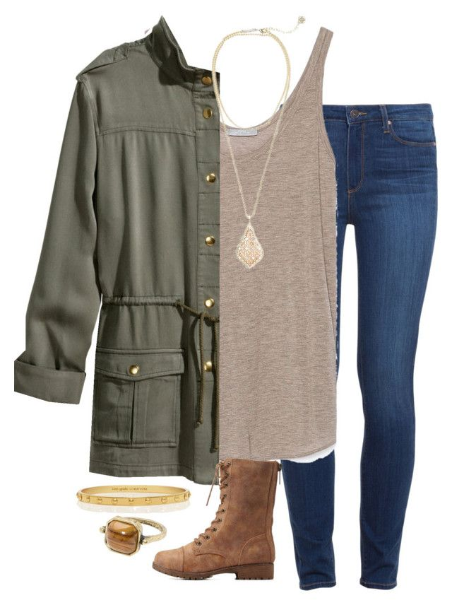 """""""Can't sleep"""" by madelynprice ❤ liked on Polyvore featuring Paige Denim, Zara, H&M, Kendra Scott, Charlotte Russe, Kate Spade and MANGO"""