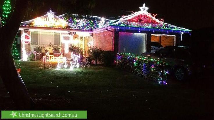 Christmas lights in Kellyville, NSW, Australia.