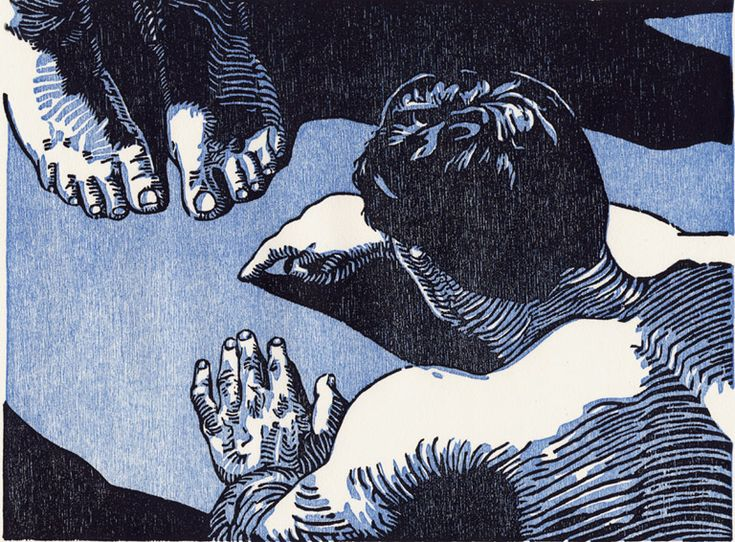 Accusation Woodcut - Tyrus Clutter 2003