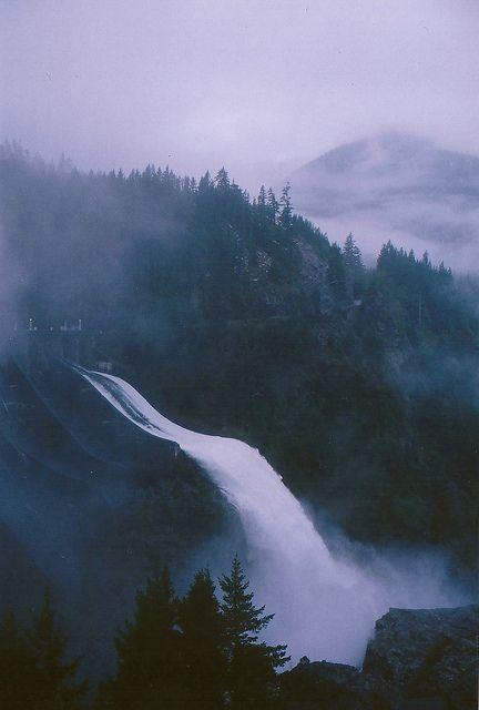 Winter at Diablo Dam, North Cascades, Washington // photo by Rachael Schumacher