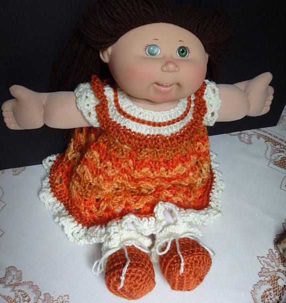 Crochet outfit Cabbage Patch Kids 17 18 inch baby doll Dress