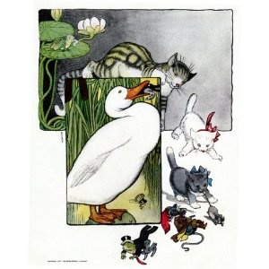"6"" x 4"" Greetings Card Fanny Cory Mother Goose - 016"