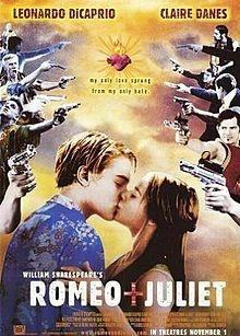 Romeo + Juliet (1996): Movie Posters, Romeo And Juliet, Clear Danes, Baz Luhrmann, Williams Shakespeare, Leonardo Dicaprio, Favorite Movie, Juliet 1996, High Schools