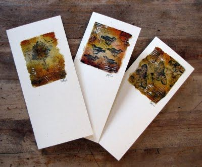 Letting in the Light: Teabag Art Cards, by Kim Henkel  Something new to try! Must have some tea...
