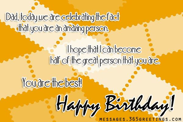 Birthday Wishes for Father - Messages, Wordings and Gift Ideas