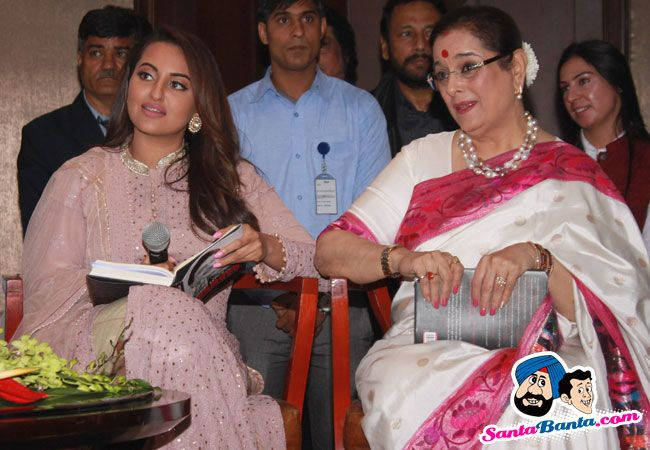 Launch of Shatrughans Biography Anything But Khamosh -- Sonakshi Sinha and Poonam Sinha Picture # 327790