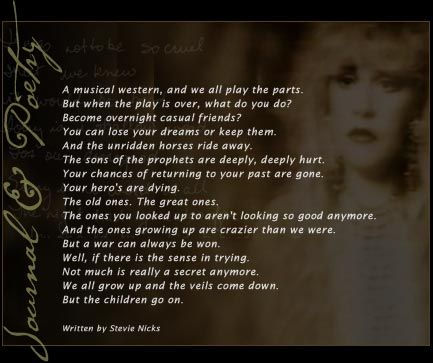 Stevie Nicks Poems   Stevie Nicks Quotes