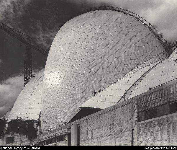 Max Dupain, Sydney Opera House in construction, Sydney, 1972
