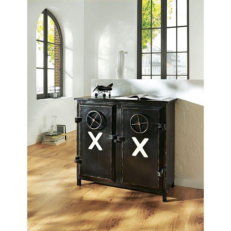 schrank kommode 2 t rig loft industrial style eisen schwarz industrial loft style ideas. Black Bedroom Furniture Sets. Home Design Ideas