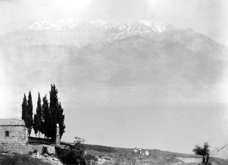 Ο Παρνασσός από το Ζεμενό, Zemenon-Parnasse, δεκαετία 1900
