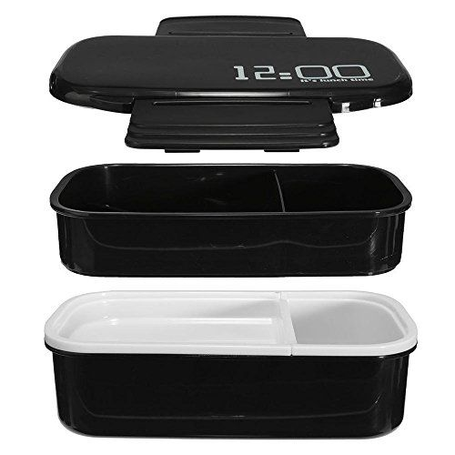 LUCKSTAR Bento Lunch Box - 2-Tier Bento Box 100% BPA Free Eco-Friendly & Reusable Food Storage Container Japanese Modern/Traditional Lunch Containers with Spoon & Fork For Adults and Kids - Cool Kitchen Gifts
