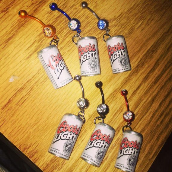 Coors Light Can Bellybutton Ring One Of A Kind from GirlsWithGuns22 on Etsy. Saved to Things I want as gifts. #memoriessss.