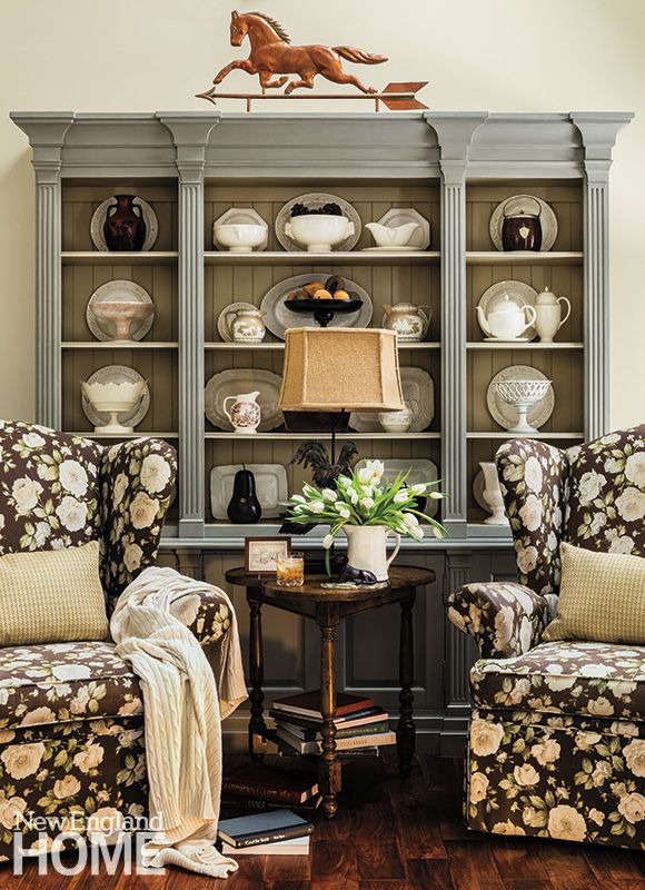 A China Packed Hutch Holds The Homeowners Vintage Creamware Collection
