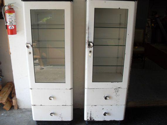 50 best old enamel cabinets images on pinterest cabinets for White enamel kitchen cabinets