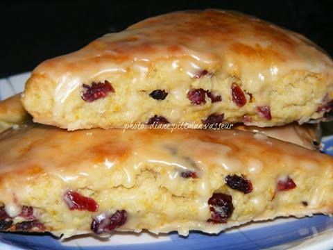 Foodies TV   Orange Cranberry Scones  Recipe Submitted By: Diane Pittman Vasseur http://foodiesnetwork.tv/orange-cranberry-scones/