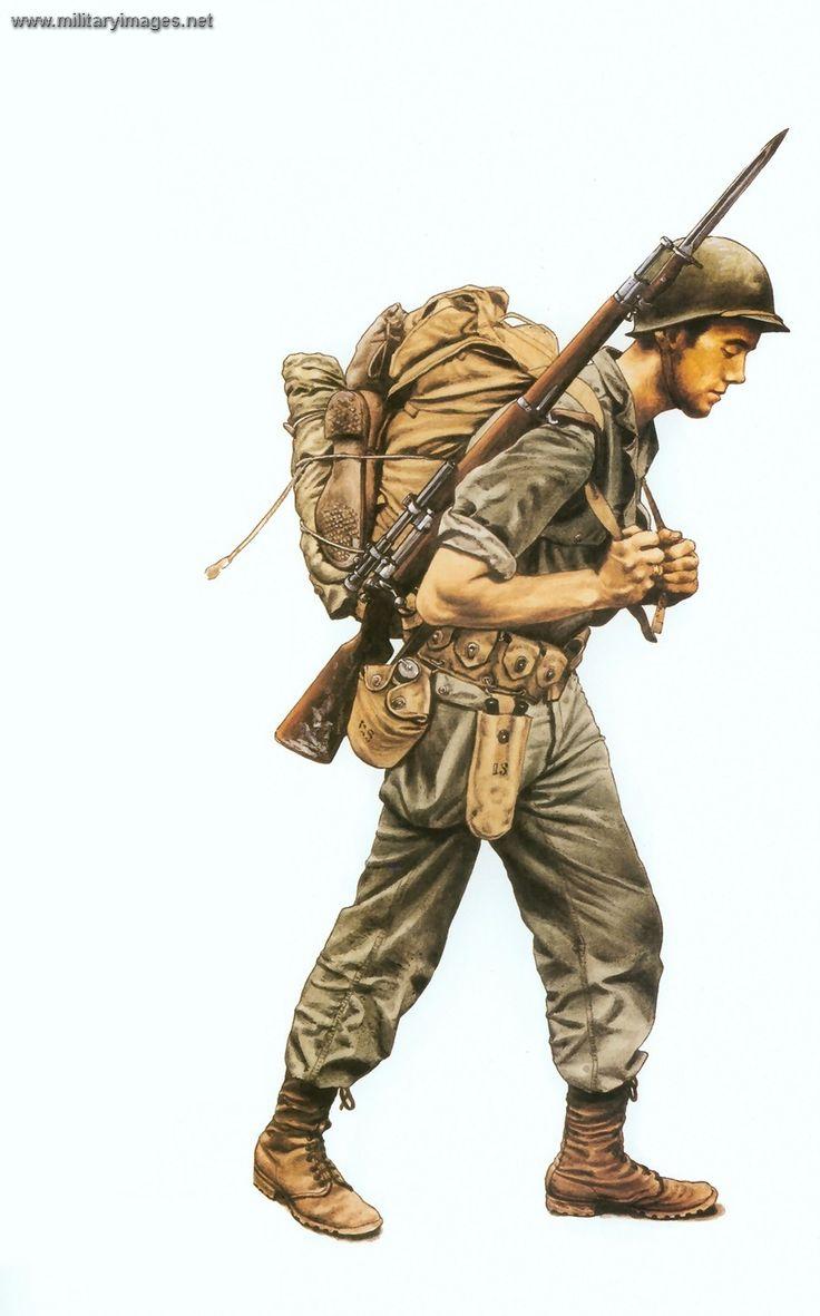 WWII US soldier - Google Search   BoB Reference   Soldado ...
