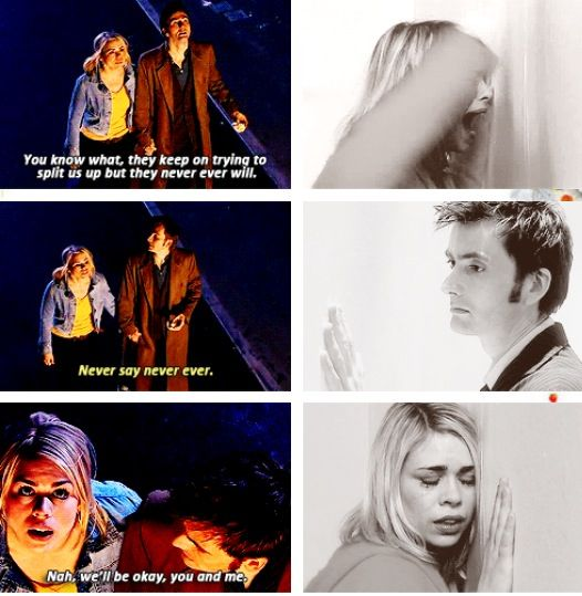 Rose Tyler and the Doctor.... OH THE STUPID FEELS
