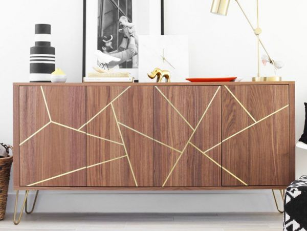Mid Century Modern Ikea Hack Sideboard With Images Ikea