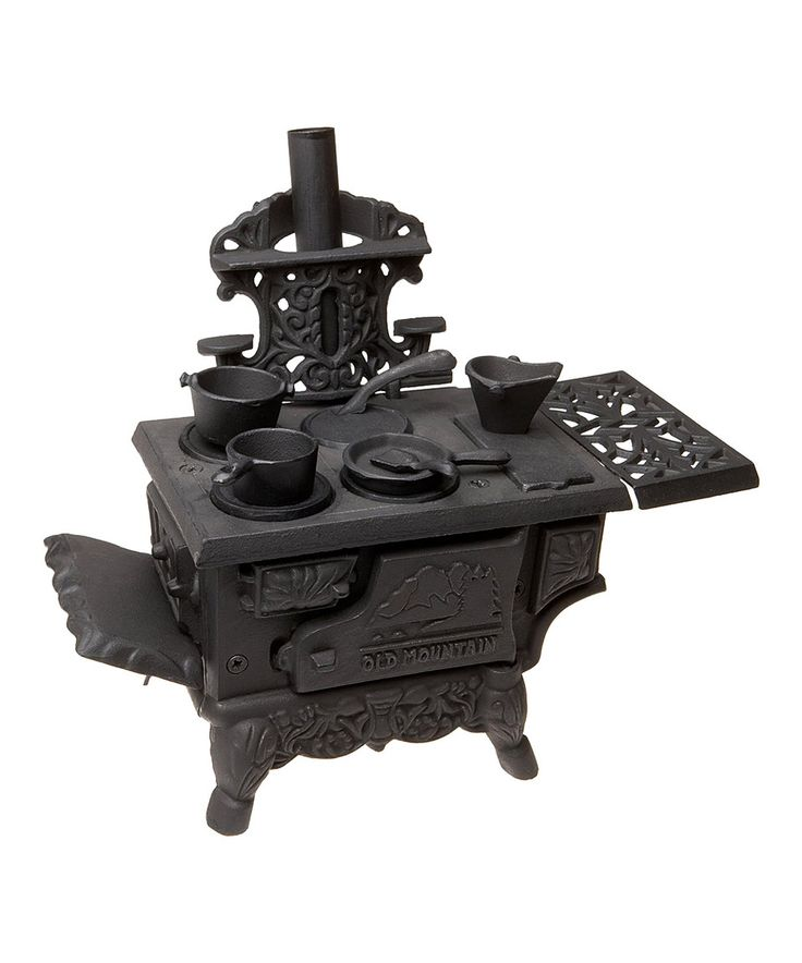 Look what I found on #zulily! Old Mountain Cast Iron Mini Wood Stove Set by Old Mountain #zulilyfinds