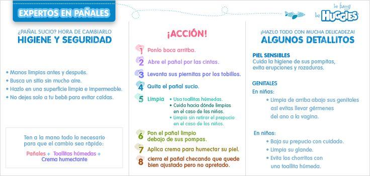 Aprende a cambiar el #pañal de tu #bebé con esta práctica infografía. https://www.huggies.com.mx/site/Cuidados/Embarazo/1