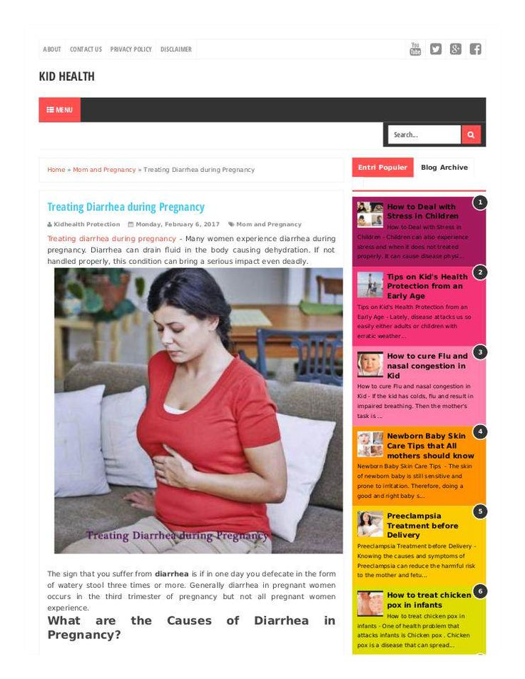 """Treating Diarrhea during Pregnancy"" published by @Ihsanumraity on @edocr"