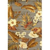 Found it at Wayfair - Lifestyles Slate Tropical Rug
