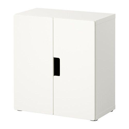 STUVA Vægskab med døre IKEA Låger med dæmper, der lukker blødt og lydløst. Kan bruges fritstående eller vægmonteret.